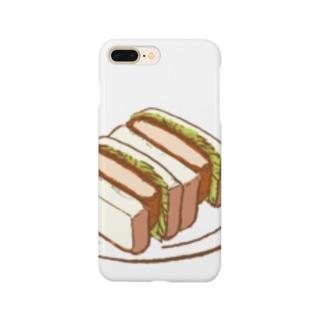 パン カツサンド  Smartphone cases