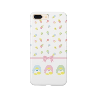 ペンギンアイスクリーム柄 Smartphone cases