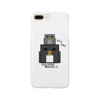 スクエアワールド ペンギン 高みを~ Smartphone cases