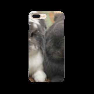 うさかふぇmimiSHOPのサスケとゴマ Smartphone cases