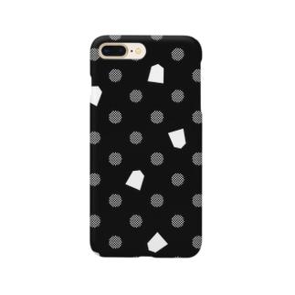 将棋ドット(黒) Smartphone cases