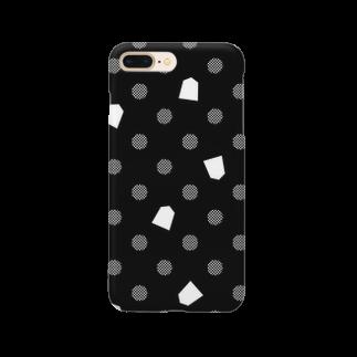 将棋グッズの将棋ドット(黒) Smartphone cases