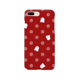 将棋ドット(赤) Smartphone cases