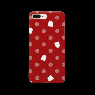 将棋グッズの将棋ドット(赤) Smartphone cases