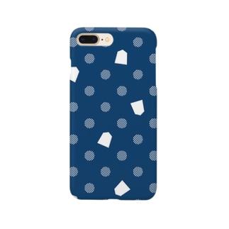 将棋ドット(青) Smartphone cases