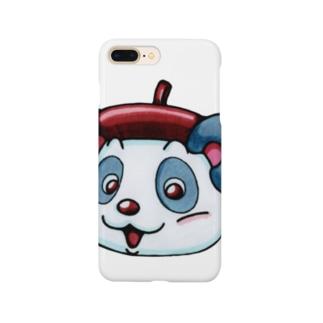 えし:ねこくま カオデカ すまほけース Smartphone cases