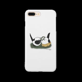 シマエナガの「ナガオくん」公式グッズ販売ページのナガオくんとシマエちゃん スマートフォンケース