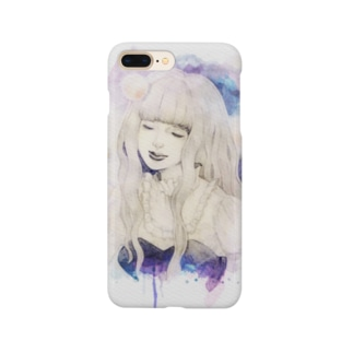 BLUE GIRLの微笑み Smartphone cases