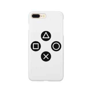 三角、四角、丸、バツ Smartphone cases