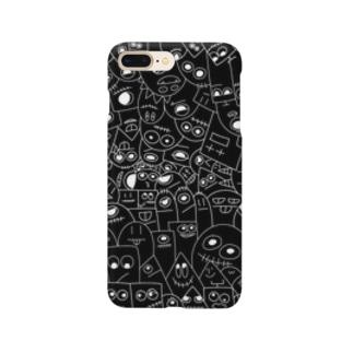 いっぱいいる。真っ黒ver. Smartphone cases