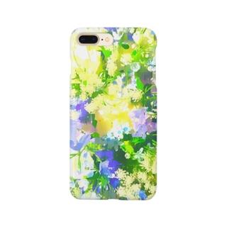 青いブーケ Smartphone cases