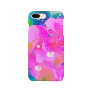 ピンクの花 Smartphone cases