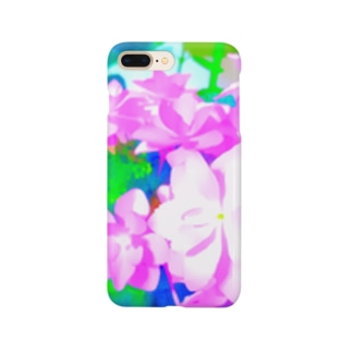 ピンクの紫陽花 Smartphone cases