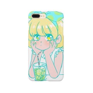 なつのレモンちゃん Smartphone cases