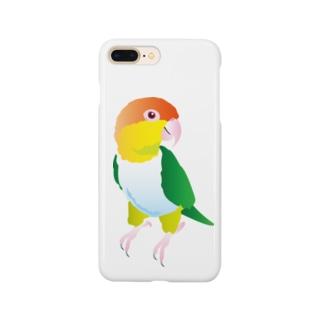 シロハラインコ 全身 Smartphone cases