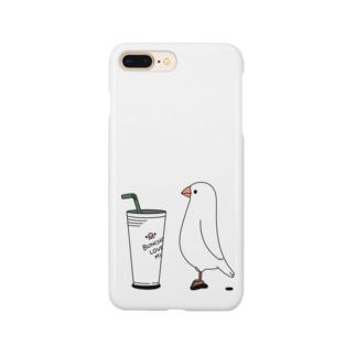 カフェ文鳥 Smartphone cases