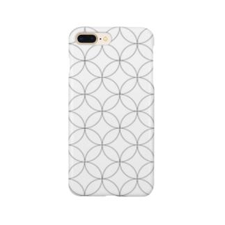 和柄 WAGARA 七宝WHITE Smartphone cases