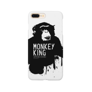 OFFICIAL GOODS SHOPのMONKEY KING_BLACK Smartphone cases