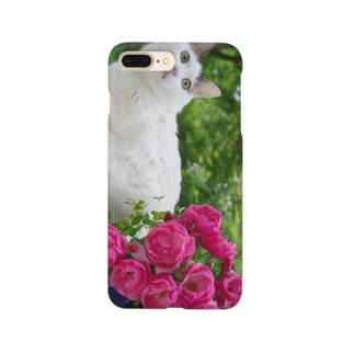 猫とバラ Smartphone cases