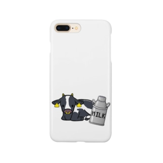 ホルスタインと牛乳缶 Smartphone cases