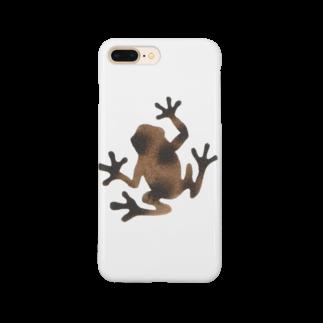 ツバメ堂の茶色いカエル Smartphone cases