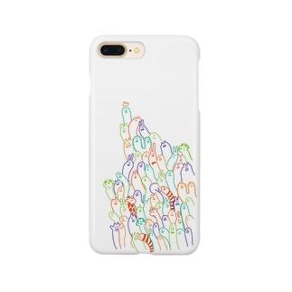 にょろにょろ Smartphone cases