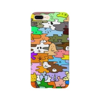 HANADAKE NINGEN迷彩マルチカラー Smartphone cases