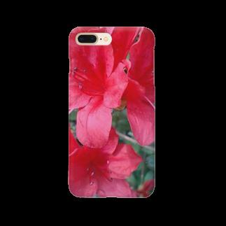 Dreamscapeの引き立つ赤さ Smartphone cases