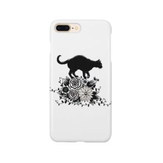 花に乗る猫 Smartphone cases