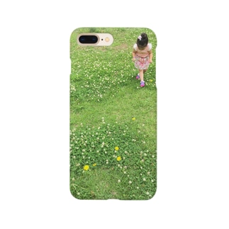 White clover and girl Smartphone cases