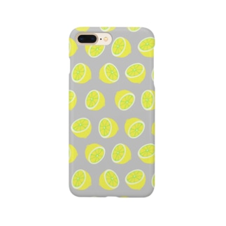 レモン グレー Smartphone cases