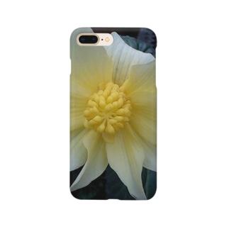 クリームイエロー Smartphone cases