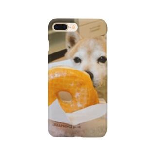 豆柴ビーンとドーナツ Smartphone cases