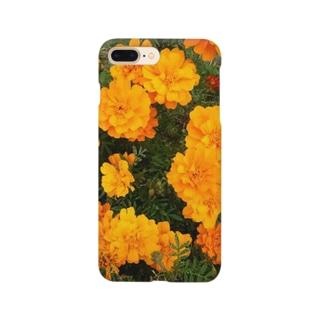 イエローオレンジ Smartphone cases