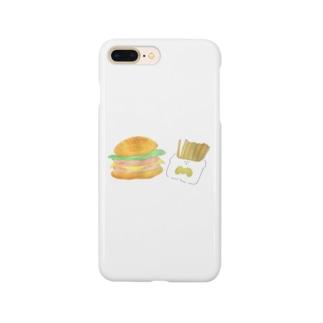 ましまろちゃんのハンバーガーセット Smartphone cases