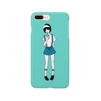 黒髪の女の子 Smartphone cases