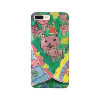 パカパカねこ Smartphone cases
