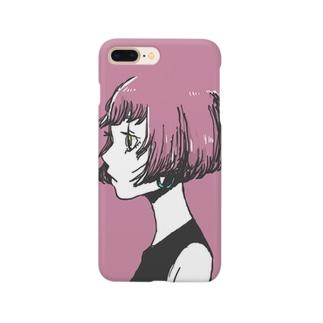 ピンクボブ Smartphone cases