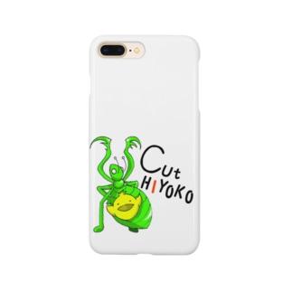 ぴよ丸とかまきり君 Smartphone cases