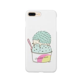 Choco Mint ハリネズミ Smartphone cases