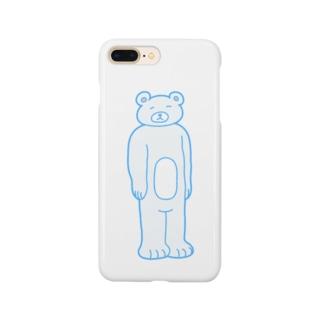 【ゆっきー×うめぼし】脱力くまさん(白)【コラボアイテム】 Smartphone cases