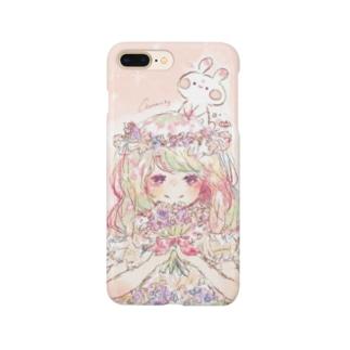 スターチスとうさぎ Smartphone cases