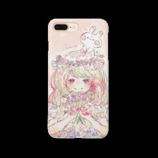 *momochy shop*のスターチスとうさぎ Smartphone cases