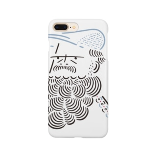 ハンチング髭おじさん1 Smartphone cases