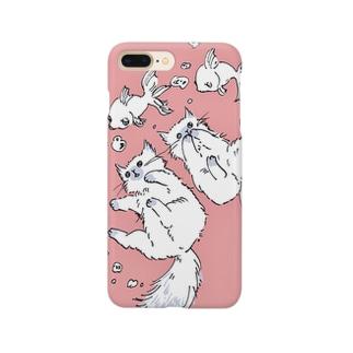 囲まれた!pink ver. Smartphone cases