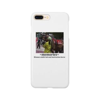 競馬イラスト 女性厩務員と誘導馬 Smartphone cases