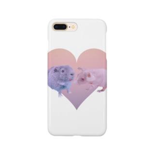 モルモット  オハナ&ラウ  ハート Smartphone cases