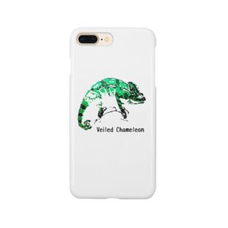 シルクスクリーン 【エボシカメレオン】 Smartphone cases