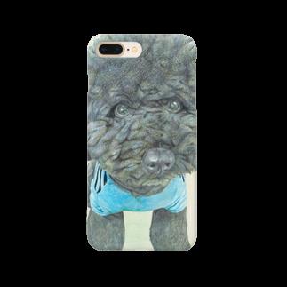 健太 下田の黒のトイプードル Smartphone cases