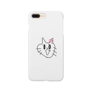 ファー?!??!って言ってるネコ Smartphone cases